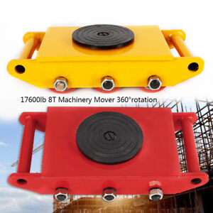 Dolly Skate Roller Machinery Mover 8t 17600lb Heavy Duty Machine 360 Rotation