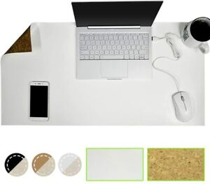 Gaming Mousepad Pu Leather Cork 31 5 X 15 7 Waterproof Desk Cover Protector