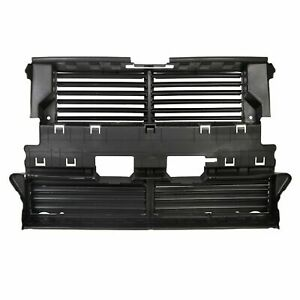 New Black Radiator Grille Shutter W o Actuator For 2013 2016 Ford Fusion