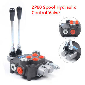2 Spool Hydraulic Directional Control Valve 21 Gpm Double Acting 80l min 4500psi