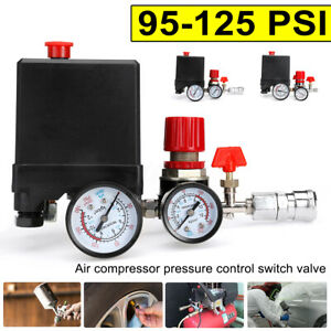 95 125psi Air Compressor Pressure Switch Control Valve Regulator Double T