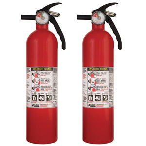 2 Pack Fire Extinguisher Dry Chemical Powder Home Office Shop Safety 1 a 10 b c