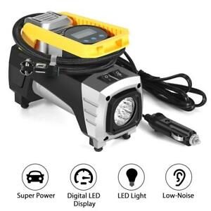 Car Portable Tire Inflator Air Compressor Electric Pump 12v digital led Light