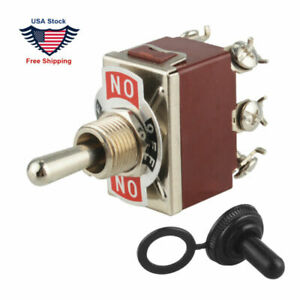 Heavy Duty 20a Dpdt 6pin momentary On off momentary On Toggle Switch boot Us