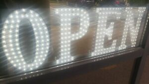 Led White Color Open Sign 31 X 13