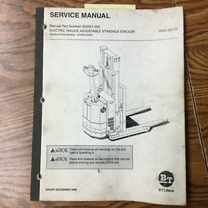 Bt Prime Mover Wsx20 Wsx25 Straddle Service Shop Repair Manual Fork Lift Truck