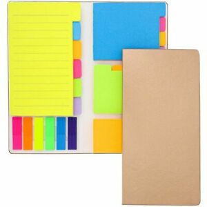 2 Pack Neon Colored Sticky Notes Page Marker Tabs Index Dividers Notebook 8 x4