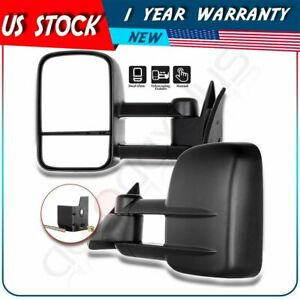 Towing Manual Side View Tow Mirrors Left Right For 88 98 Chevy Gmc C K Pair Set