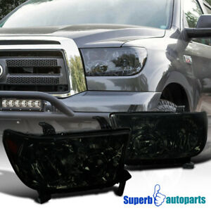 For 2007 2013 Toyota Tundra 2008 2017 Sequoia Headlights Lh Rh Smoke