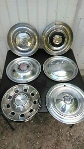6 Vintage Dodge Desoto Plymouth Hubcaps 1950s 1960s