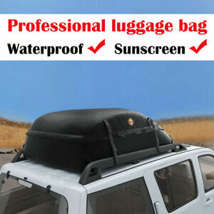 Car Top Carrier 17 Cubic Feet Waterproof Cargo Rooftop Bag Box Storage Luggage