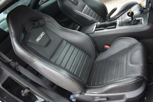 2014 Ford Mustang Gt Oem Recaro Black Leather Performance Seats Front