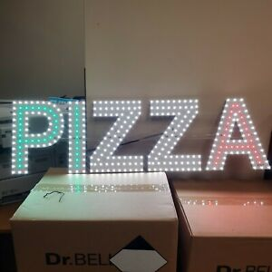 Beautiful Led White green red Color Pizza Sign 33 X 11