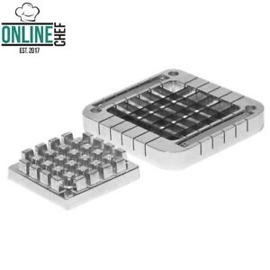 1 2 Blade Assembly Push Block French Fry Cutters Thick Slices Stainless Steel