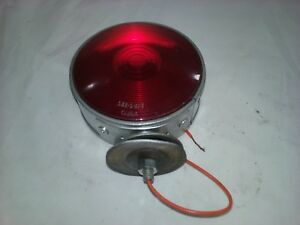 Yankee Thin A Turn Signal Assembly Nos With Red Stratolite Lens T226