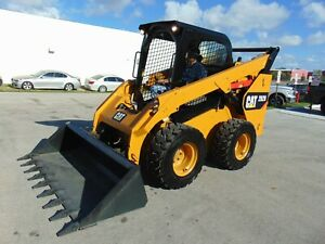 2017 Cat 262d Turbo Self Leveling Heated Air Ride Seat Brand New Cat Tires