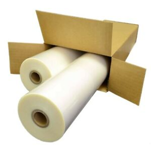 2 Rolls Laminating Film 25 X 200 5 Mil 1 Adhesive In Clear