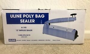Uline H 190 Tabletop Poly Bag Impulse Sealer 12 slightly Used Great Condition
