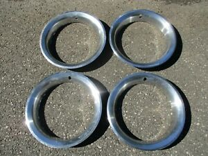 Genuine 1973 To 1977 Pontiac Grand Prix Firebird 15 Inch Beauty Trim Rings