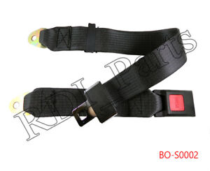 Universal Truck Car Seat Belt Lap Belts Adjustable Two 2 Point Bolt Safety Black