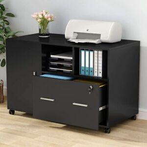 Large File Cabinet With Lock drawer wheels Modern Mobile Lateral Filing Cabinet