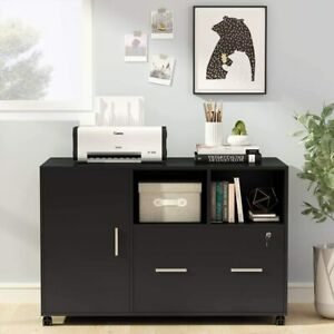 Large File Cabinet W Drawer Modern Mobile Lateral Filing Cabinet Printer Stand
