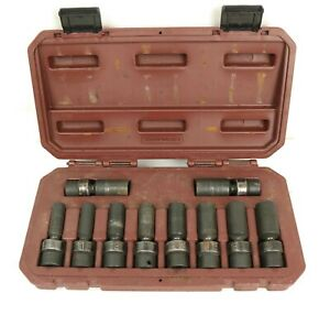 Matco Tools 3 8 Dr Adv 10 pc Mm 6 pt Deep Swivel Impact Socket Set Sbdupm106v