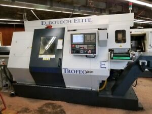 Used Eurotech B446 sy2 Cnc Lathe 2012 Twin Spindle Twin Turret Y axis Live Tool