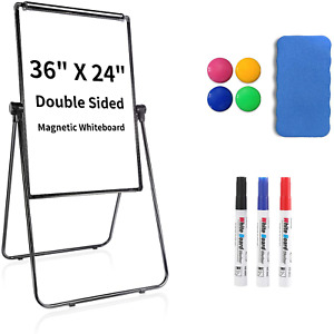 Stand White Board Magnetic Dry Erase Easel Board White Boards Double Sided With