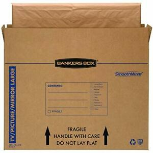Smoothmove Tv picture mirror Moving Box Large 48 X 4 X 33 Inches 4 Pack