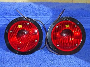 1950 1960 Chevy Gmc Ford Truck Bus Signal stat Accy 12 Volt Stop Lamps Nos