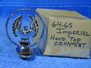 1964 1965 Chrysler Imperial Hood Top Ornament Rare