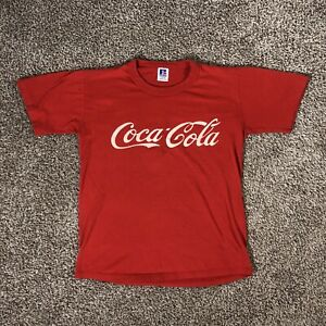 Vintage Coca Cola T Shirt Made in USA Russel Athletic Coke # 3 Adult Size Small
