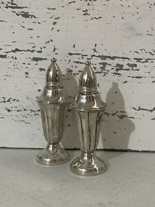 Vintage Weighted Sterling Silver Salt Pepper Shakers