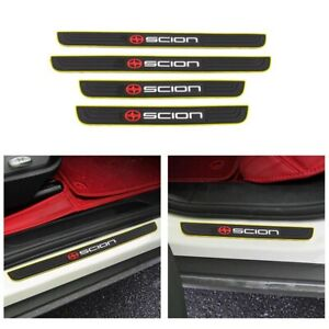 Yellow Border Rubber Car Door Scuff Sill Cover Panel Step Protector For Scion
