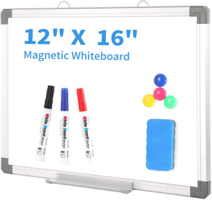 Small Dry Erase White Board 12 X 16 Inch Magnetic Hanging White Board With Det