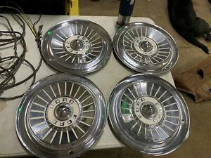 1957 58 Ford Fairlane Hub Caps Wheel Covers