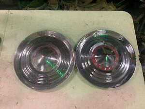 1953 54 Pontiac Chieftain Hub Caps Wheel Covers