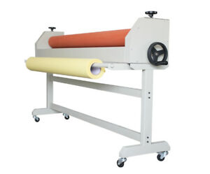 63in 1600mm Stand Large Manual Cold Roll Laminating Machine Laminator Wooden Box