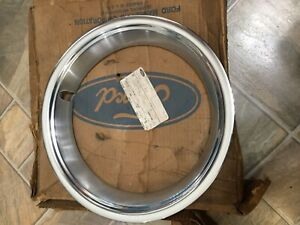 Nos 1968 Ford Mustang Style Steel Wheel Trim Ring C8zz 1210 b