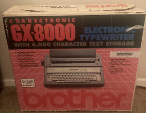 Brother Gx 8000 Portable Electronic Correctronic Typewriter With Cover Works