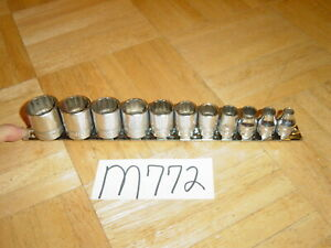 Snap On Tools 11 Piece 3 8 Drive Sae Short 12 Point Chrome Socket Set 1 4 7 8