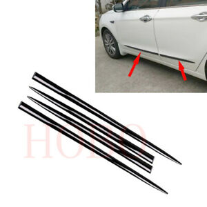 4x For Chevrolet Aveo 2004 20 Front Rear Door Side Strip Guard Black Abs Cover