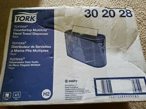 Tork Xpress Countertop Multifold Paper Towel Dispenser Black trk302028 H2