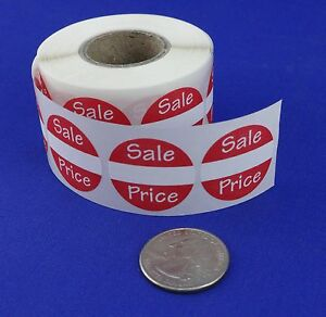 500 Self adhesive Sales Price Labels 1 Stickers Tags Retail Store Supplies