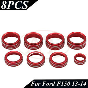 Red Ac Switch 4wd Release Mirrors Control Knob Ring Trim For Ford F150 13 14