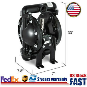 Air operated Double Diaphragm Pump 35 Gpm Membrane Pump 1 Inlet Outlet