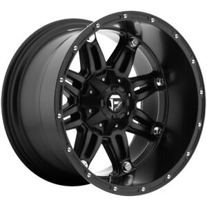 4 Fuel D531 Hostage 22x12 8x6 5 44mm Matte Black Wheels Rims 22 Inch