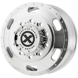 Atx Ao402 Indy Front 22 5x8 25 10x285 75 145mm Polished Wheel Rim 22 5 Inch