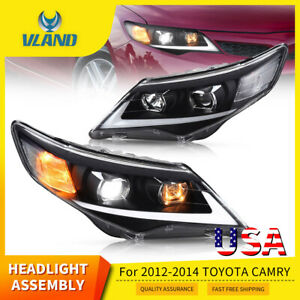 Led Headlights For 2012 2013 2014 Toyota Camry Projector Led Drl Assembly Lamps